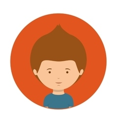 red of half body teenager with t-shirt vector image vector image