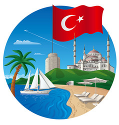 resort in turkey vector image