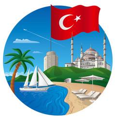 Resort in turkey vector