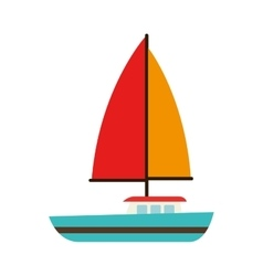 Sailing vessel sea isolated design vector