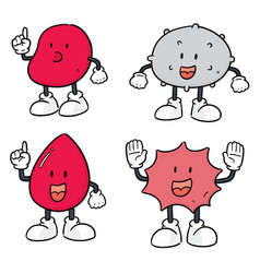 set of blood cells vector image
