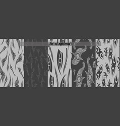 Set of ten seamless organic rounded lines vector