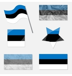 Set with Flags of Estonia vector