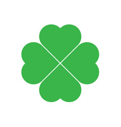shamrock - green four leaf clover icon good luck vector image