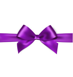 Shiny purple satin ribbon on white background vector