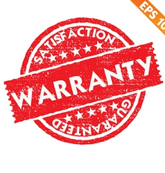 Stamp sticker WARRANTY collection - - EPS10 vector image