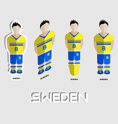 Sweden Soccer Team Sportswear Template vector