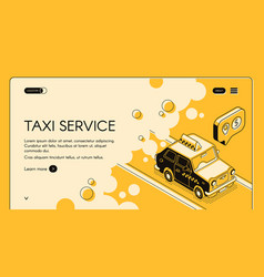 taxi service ordering web page template vector image