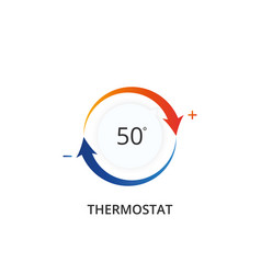 Thermostat icon climate control regulator vector