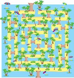 Tropical Island Maze vector