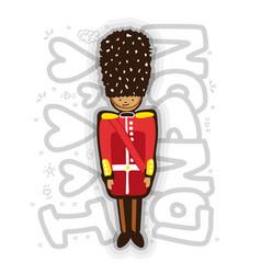 uk buckingham palace queen guard in uniform vector image