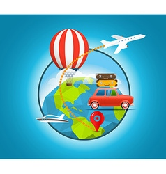 Vacation travelling concept travel travel vector