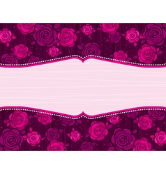 valentine pink valentine background with roses vector image