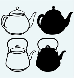 Vintage metal kettle vector