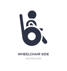 Wheelchair side view icon on white background vector
