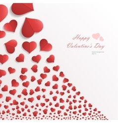 White background with hearts vector