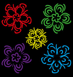 a set of schematic colors vector image vector image