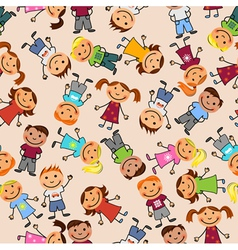 boys and girls seamless pattern vector image vector image