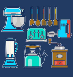 kitchen and cooking vintage elements set of vector image vector image