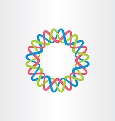 logo business circle tech icon colorful vector image