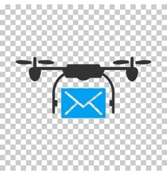 Mail Delivery Drone Icon vector image vector image