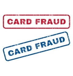 Card Fraud Rubber Stamps vector image