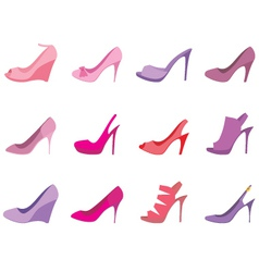 shoes female on a white background vector image