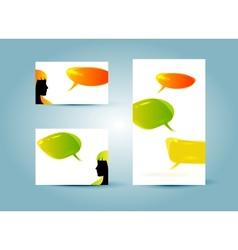 speech bubble banner templates vector image