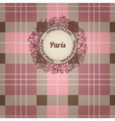 Vintage Paris background vector image vector image