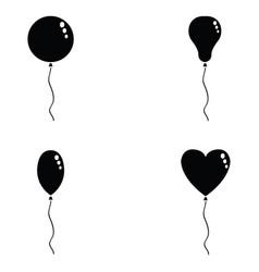 balloon icon set vector image