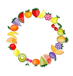 Energy fruits frame for your design vector image vector image