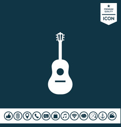 guitar symbol icon vector image vector image