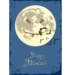 scary smiling moon vector image vector image