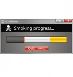 smoking window vector image vector image