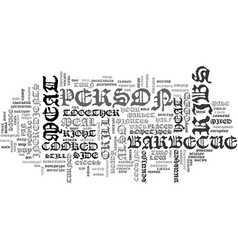 barbecue rib recipe text word cloud concept vector image