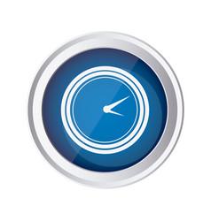 blue emblem clock icon vector image