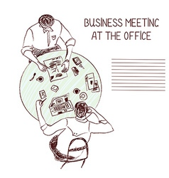 Business meeting at the office vector image