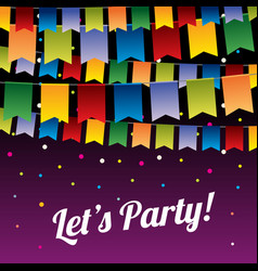 festive party background with hanging vector image vector image