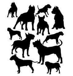 fighting dogs vector image vector image