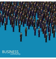 3d isometric business or politics community a vector