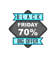 70 Black Friday sale icon cartoon style vector image