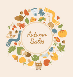 Abstract autumn sales poster vector