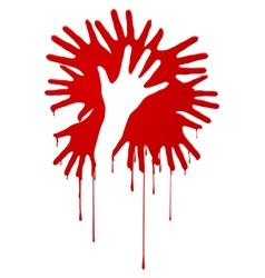 Abstract bloody hands vector