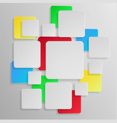 abstract square background white and color vector image