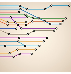 Abstract subway map eps10 vector image