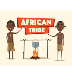 African people Indigenous south American Cartoon vector image