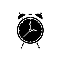 alarm watch black icon sign on isolated vector image