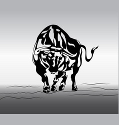 Angry bull tattoo vector