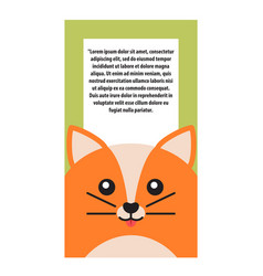 animal cover cat and text vector image