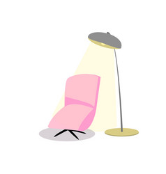 armchair floor lamp on a white background vector image